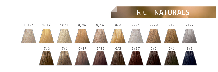 Nuancier Color Touch Rich Naturals Wella