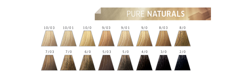 Nuancier Color Touch Pure Naturals Wella