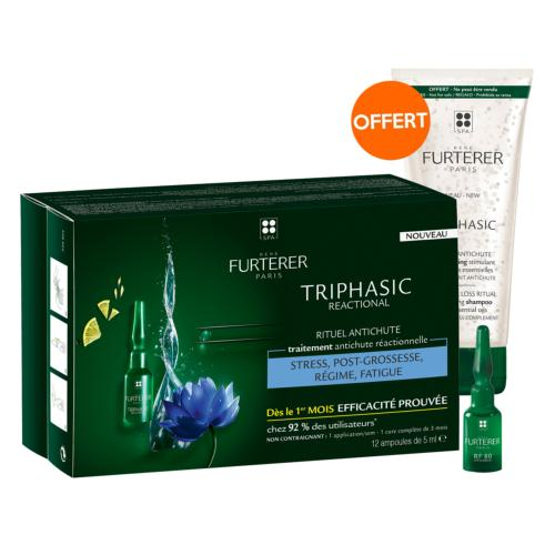 Sérum Antichute Triphasic Réactionnelle René Furterer 12x5ml