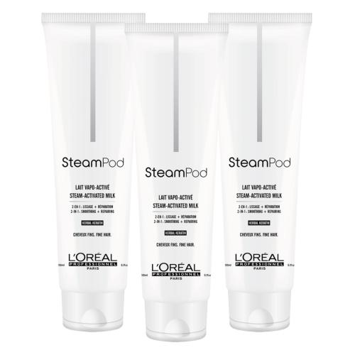 Lot de 3 Laits de Lissage Steampod Cheveux Fins 150ml