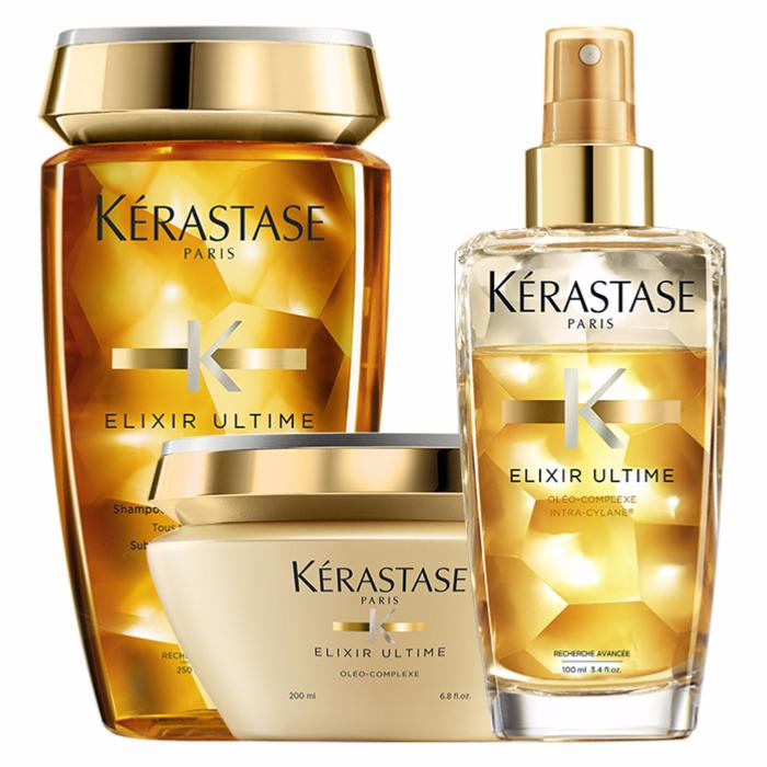 elixir ultime cheveux fins kerastase gestuelle 1 2 3. Black Bedroom Furniture Sets. Home Design Ideas