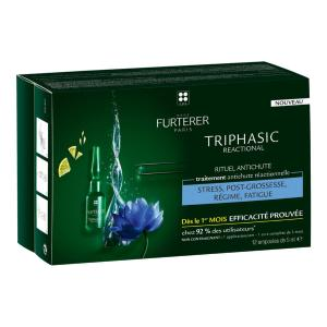 Traitement Antichute Triphasic Réactionnelle René Furterer 12x5ml