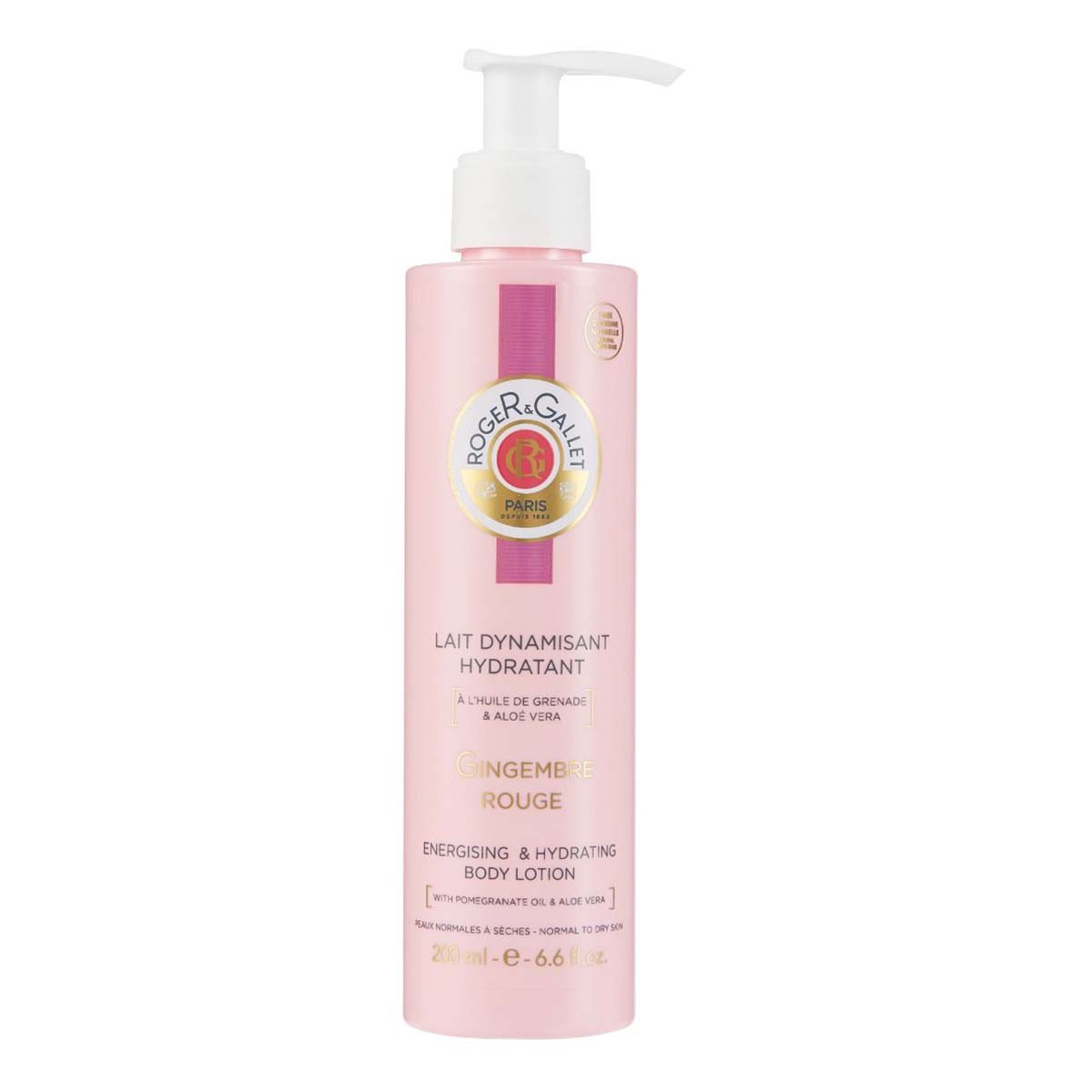 Lait Corps Dynamisant Hydratant Gingembre Rouge Roger Gallet - 200ml
